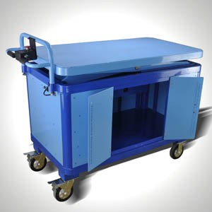 Lifting cart with cabinet(KL-12)