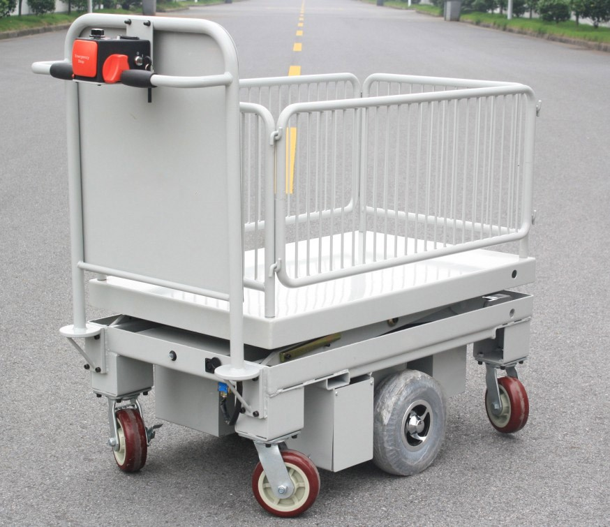 Scissor lift trolley with fence(HG-1090F)