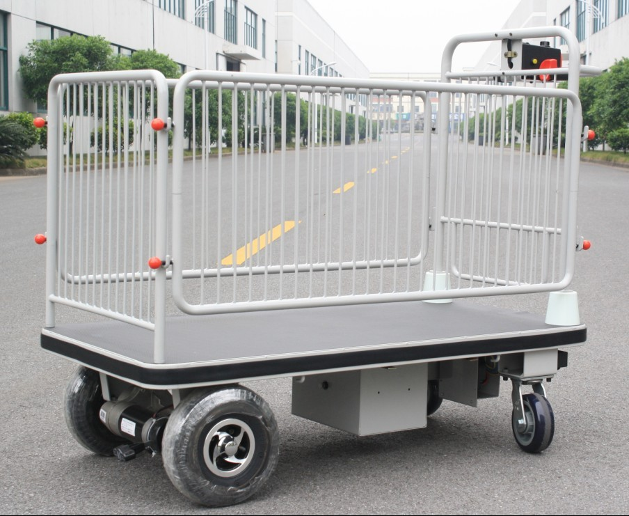 Centre Drive Wheel Electronic Cart with Shelf(HG-1050)